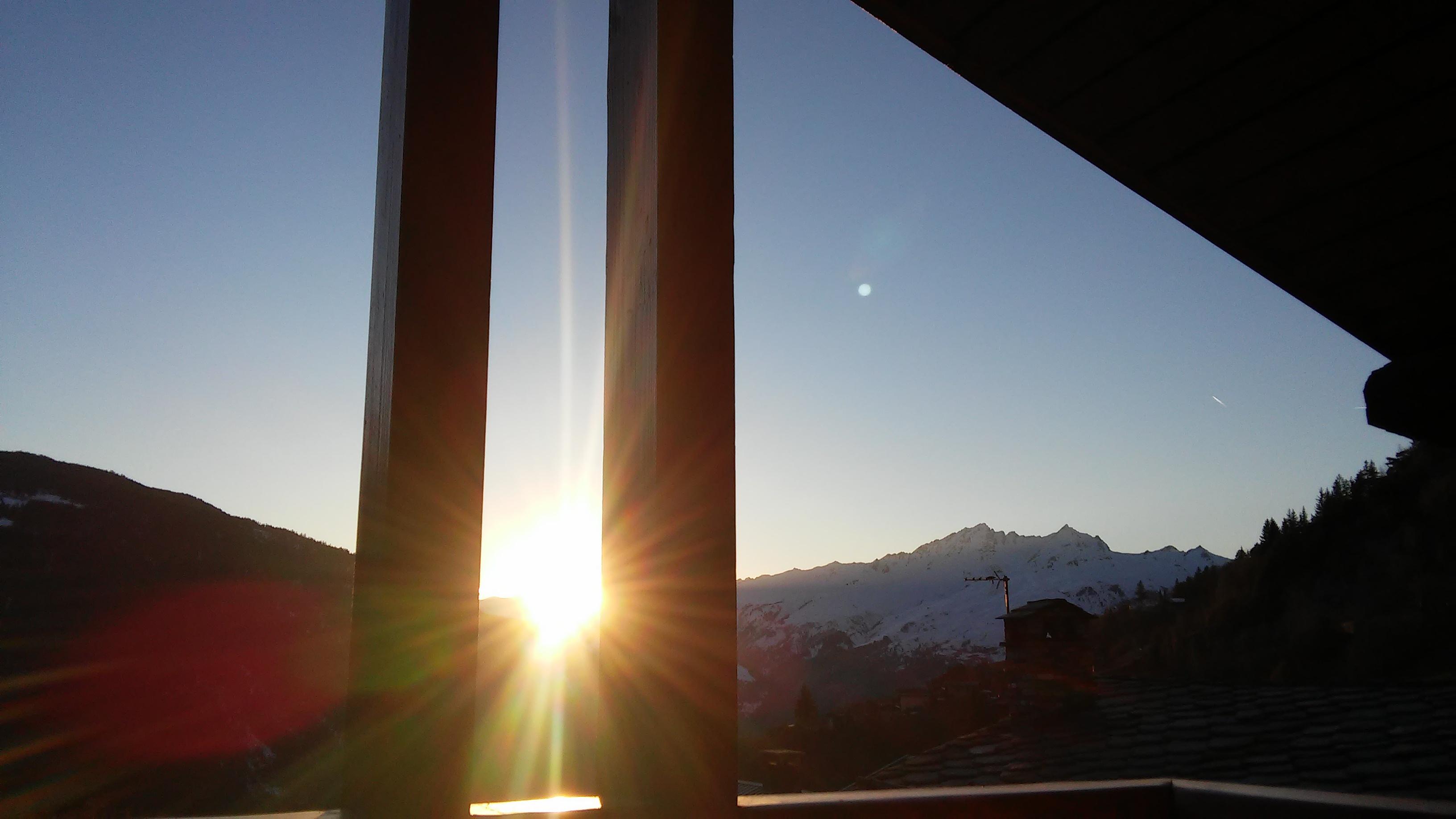 Coucher de soleil au gîte