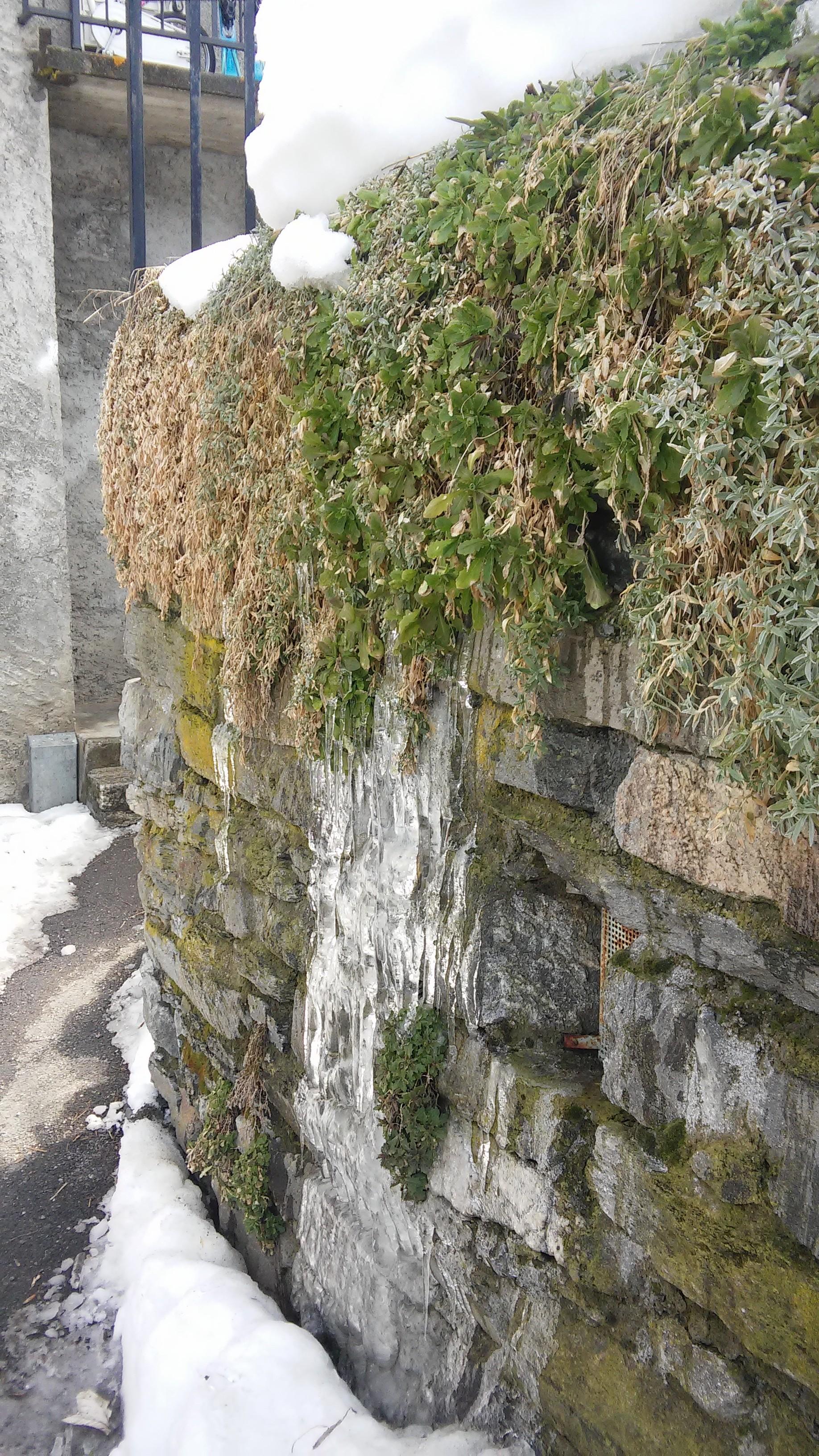 Stalactites mur Villaroger