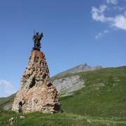 La statue de Saint Bernard au Col