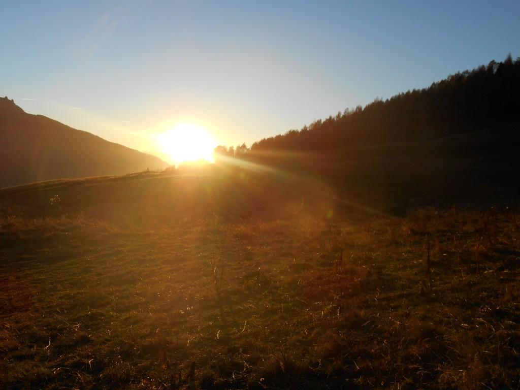 La Rosiere - Coucher de soleil automne