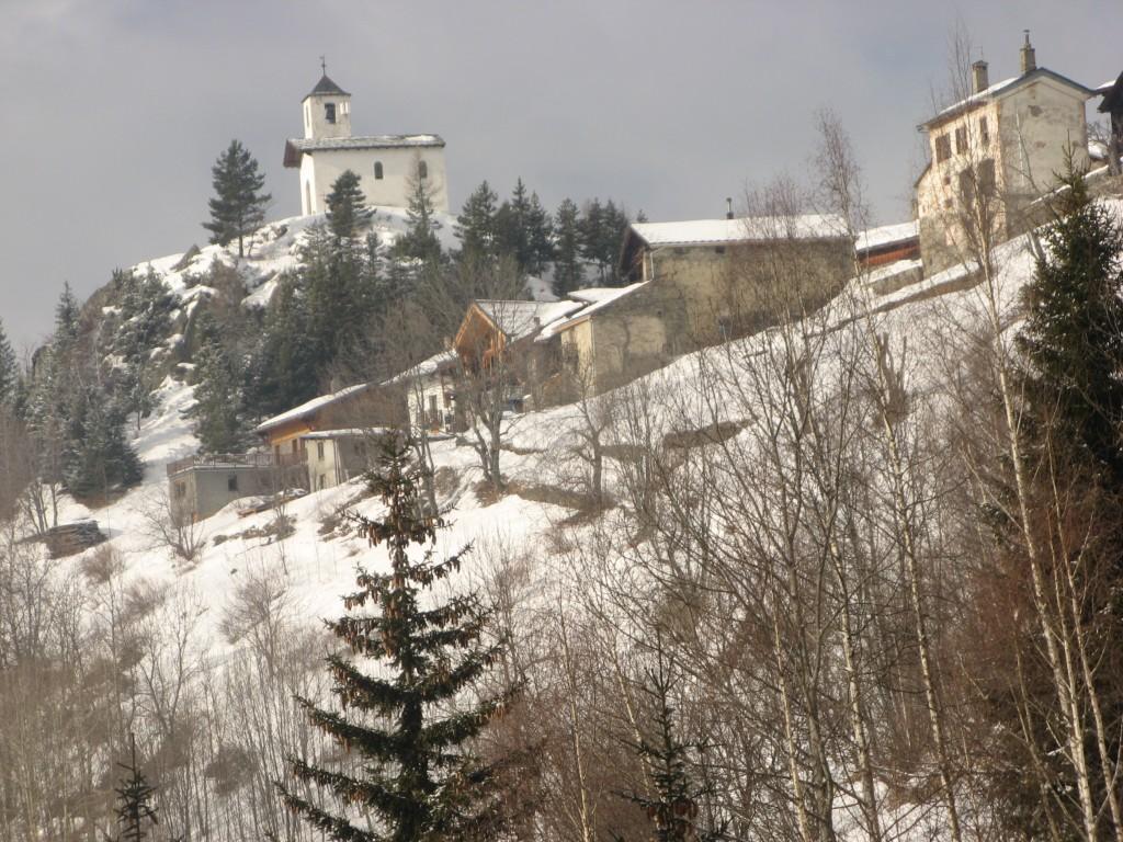 Le Mousselard - Chapelle hiver depuis chalet Ecombelles