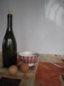 Deux oeufs et du vin, une recette simple