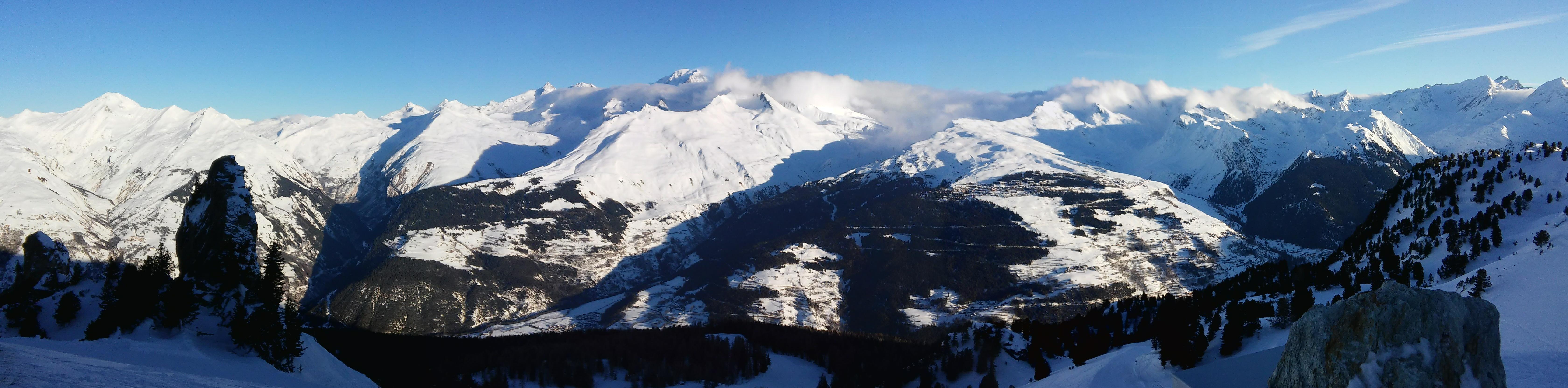 Ecombelles - Panorama sur La Rosière et le Mont Blanc